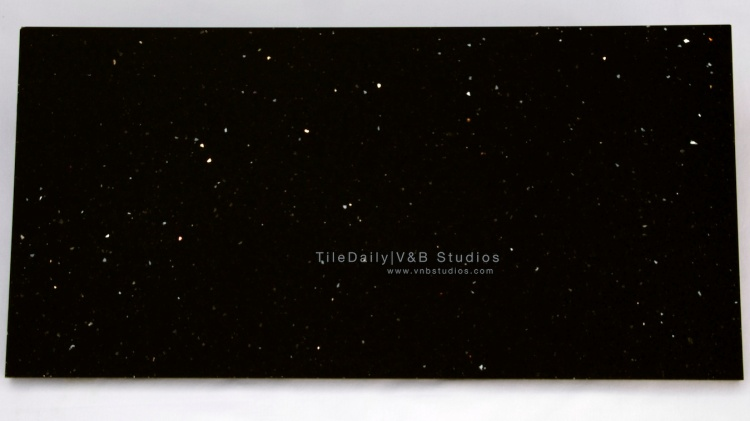 NS0041BK - Galaxy Quartz Tile, Black