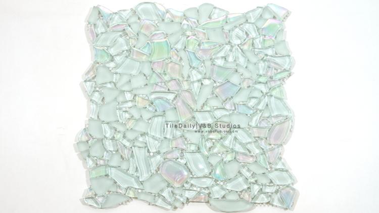 Iridescent Jagged Crystal Mosaic