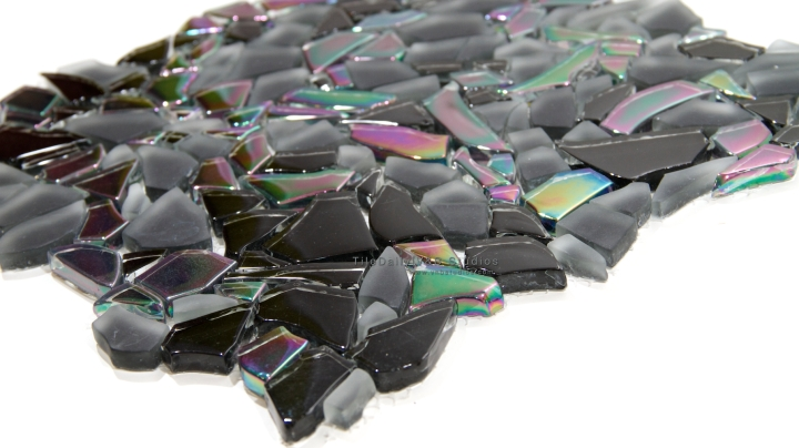 Iridescent Jagged Crystal Mosaic, 2 Colors