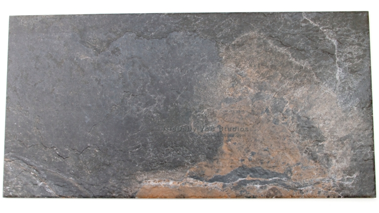 P0052GY - Rustic Slate Porcelain Tile, Rustic Blue Stone
