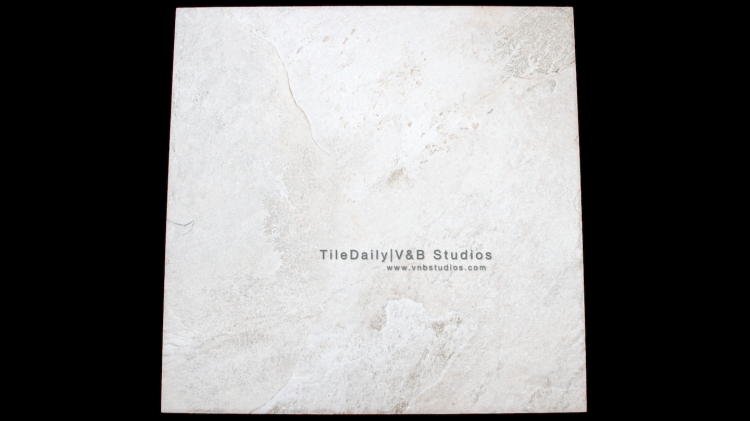 P0052WE - Rustic Slate Porcelain Tile, Rustic White Faux
