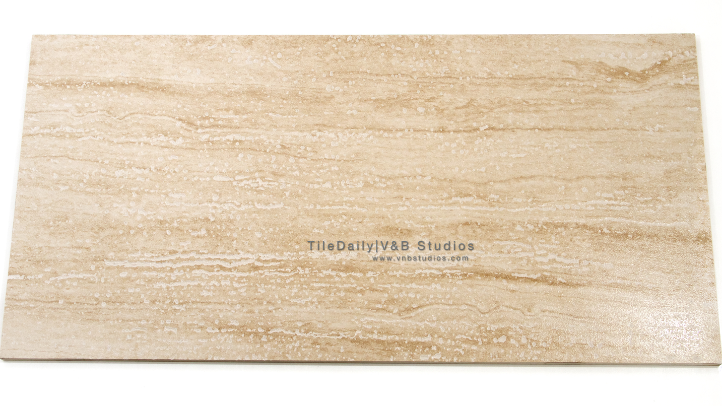 Vein Cut Travertine Porcelain Tile Tiledaily