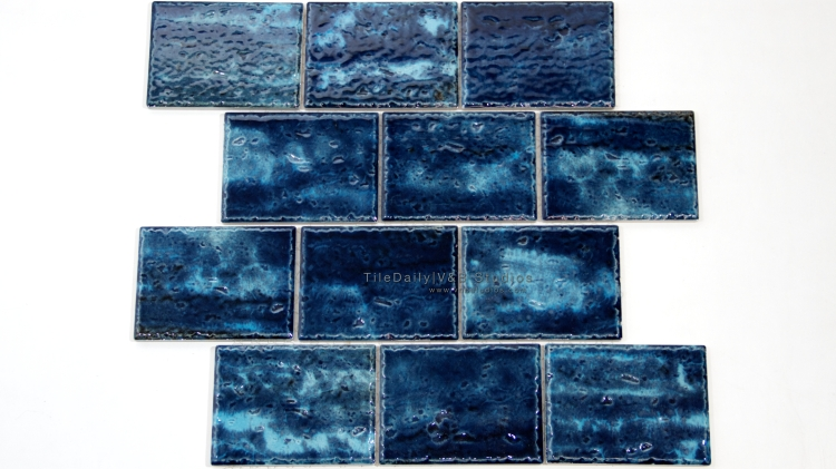 PM0029BE - Caribbean Series Porcelain Mosaic, Blue