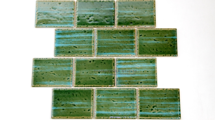 PM0029BG - Caribbean Series Porcelain Mosaic, Blue Green