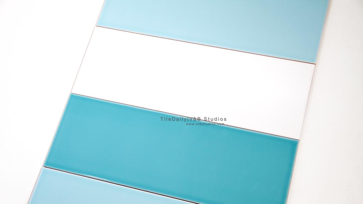 P0035 - Colori Large Subway Tile, Blue, Turquoise, White