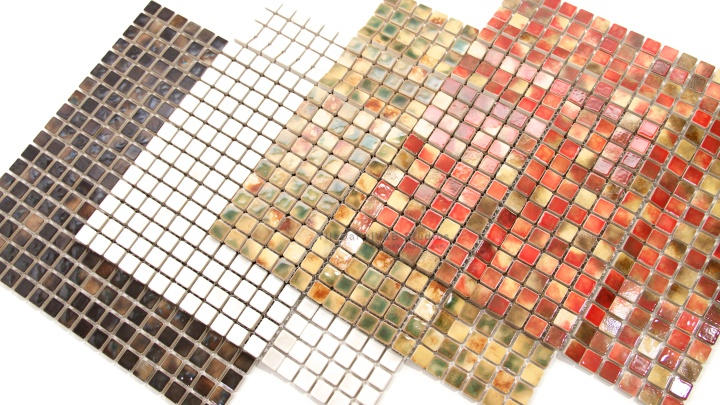 Coral Series Small Square Mosaic, 4 Colors