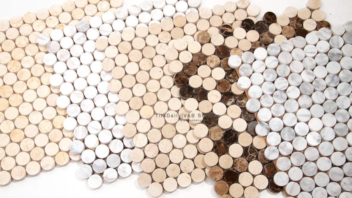 Penny Round Marble Mosaic