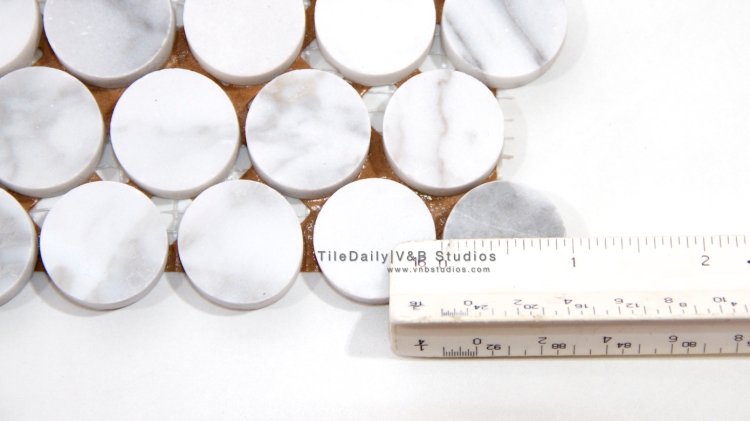 NS0043 - Penny Round Marble Mosaic