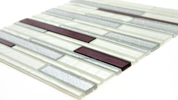 Sparkle Linear Random Brick GlassMosaic