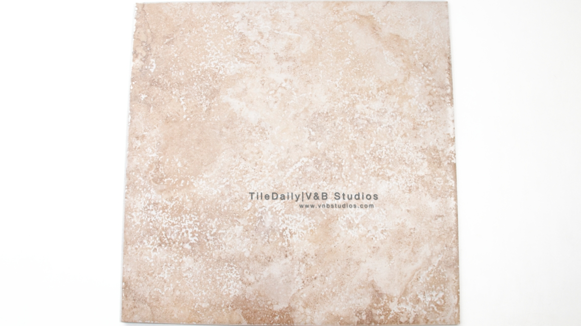 P0055LT - Travertine Porcelain Tile, Light Travertine