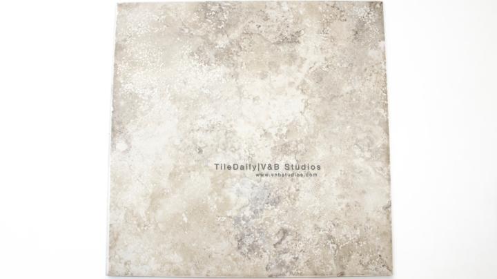 P0055GT - Travertine Porcelain Tile, Grey Travertine