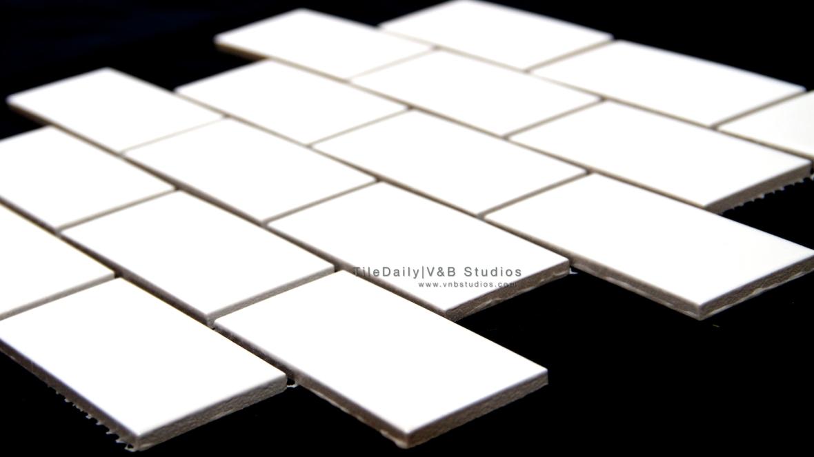 White Ceramic Subway Mosaic