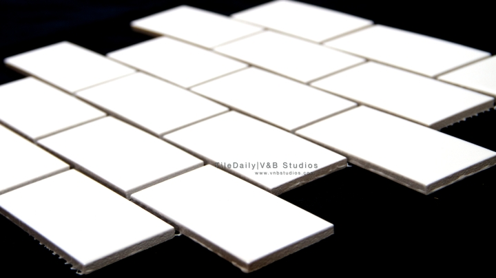 White Ceramic Subway Mosaic