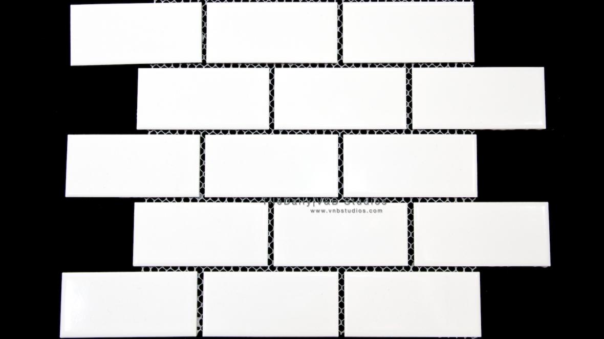 PM0027 - 2x4 White Ceramic Subway Mosaic