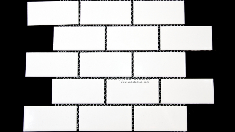 PM0027 - 2x4 White Ceramic Subway Mosaic