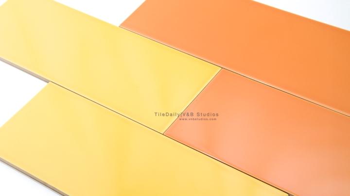 Colori Large Subway Brick, Yellow, Orange