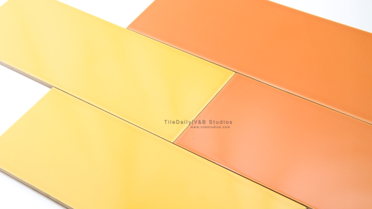 Colori Large Subway Brick, Yellow, Orange