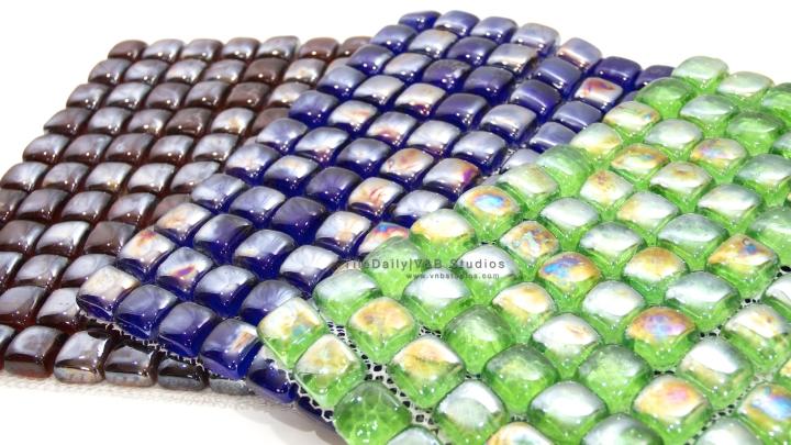 Iridescent Glass Cube Mosaic, 3 Colors –Sale