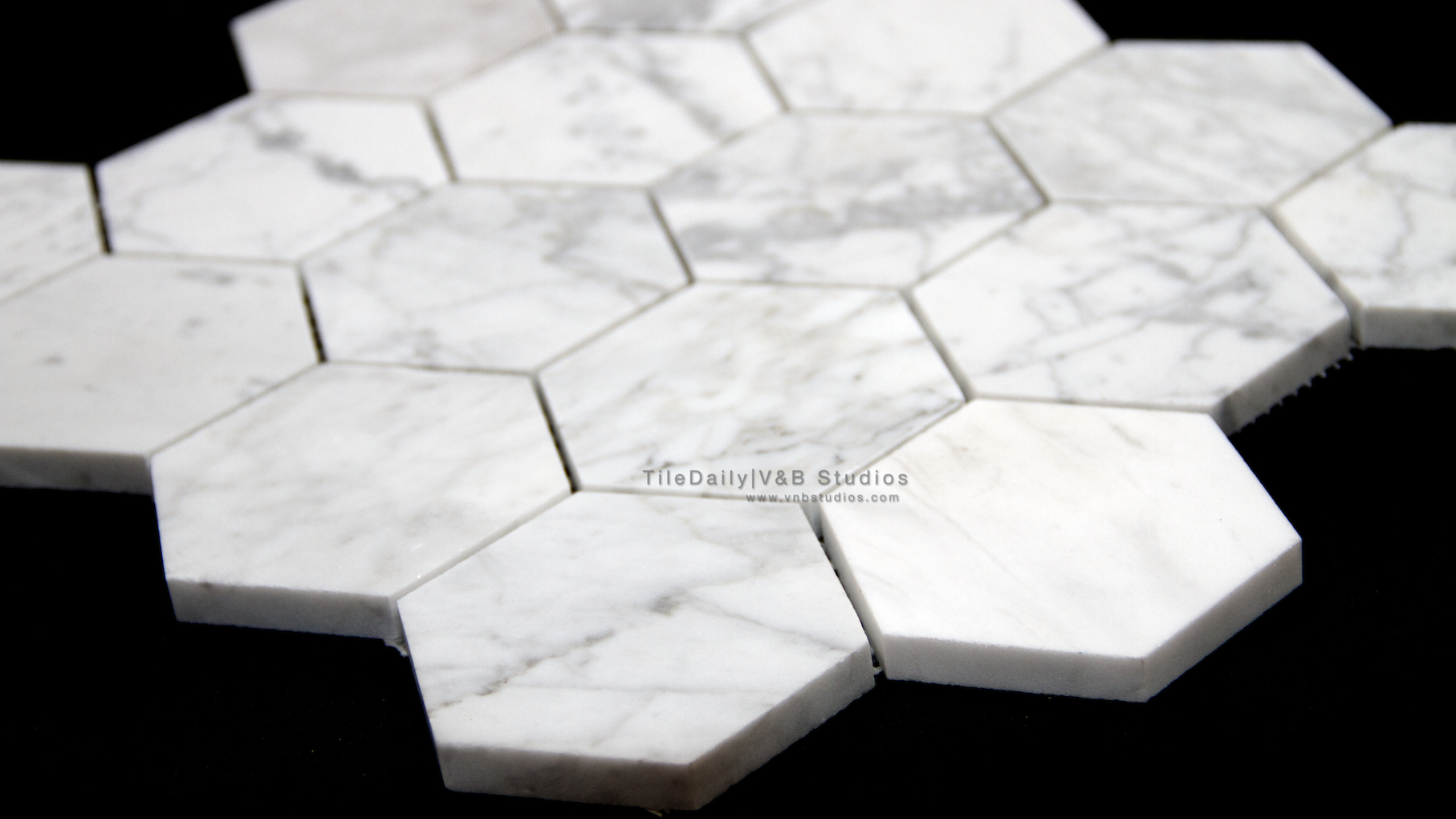 Natural stone tiledaily cararra marble hex mosaictiledaily10cararra marble hex mosaiccarrara marble 3 inch hexagon mosaic dailygadgetfo Gallery