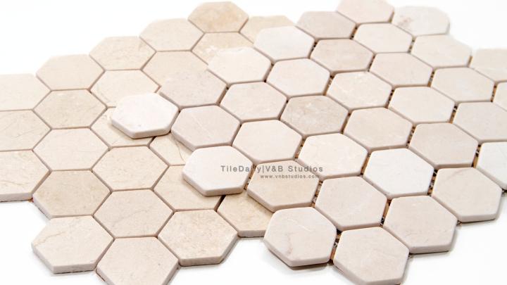 Crema Marfil Marble HexagonMosaic