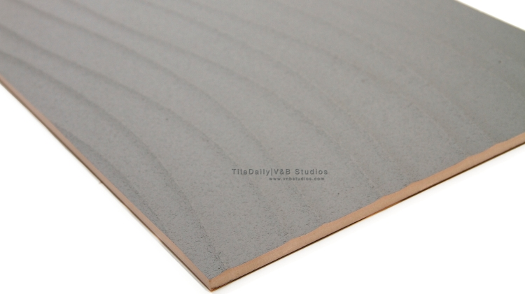 P0056GY - Linear Wave Ceramic Tile, Grey