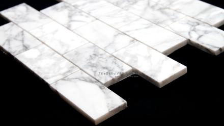 Bianco Carrara Brick Mosaic