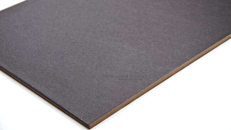 P0058BK - Brushed Matte Porcelain Tile, Black
