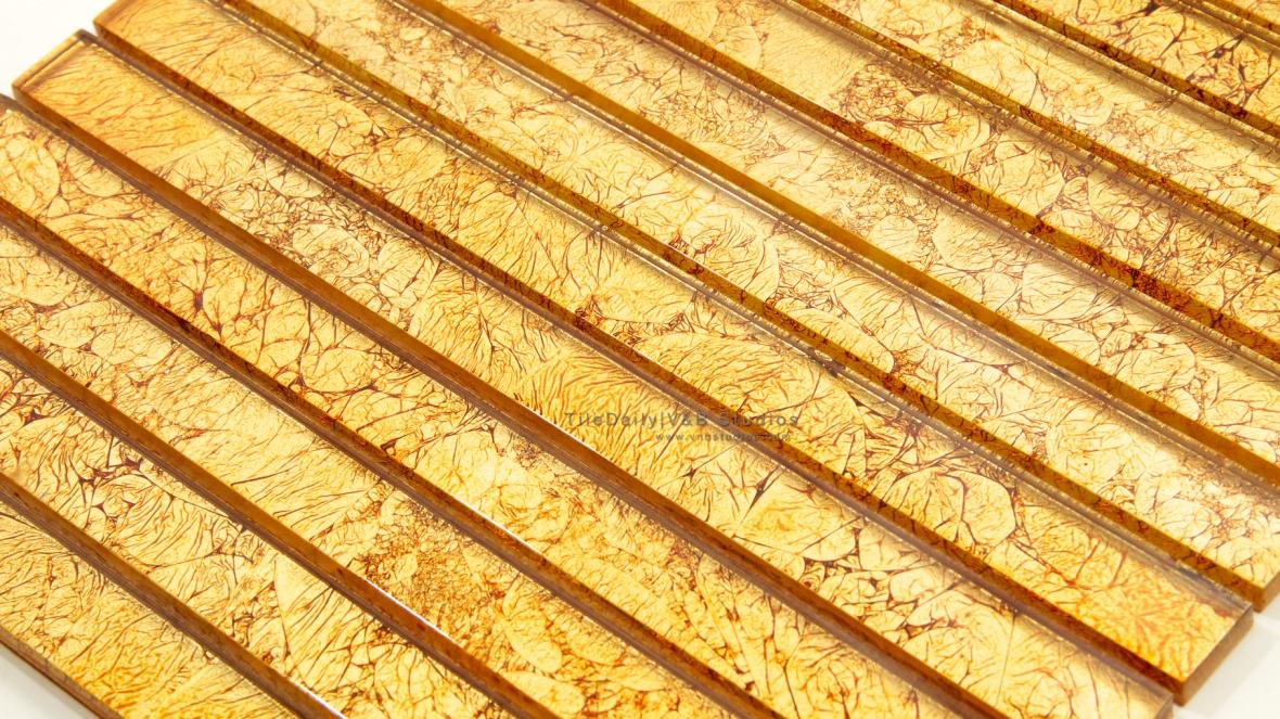 Gold Leaf Glass Bars Mosaic