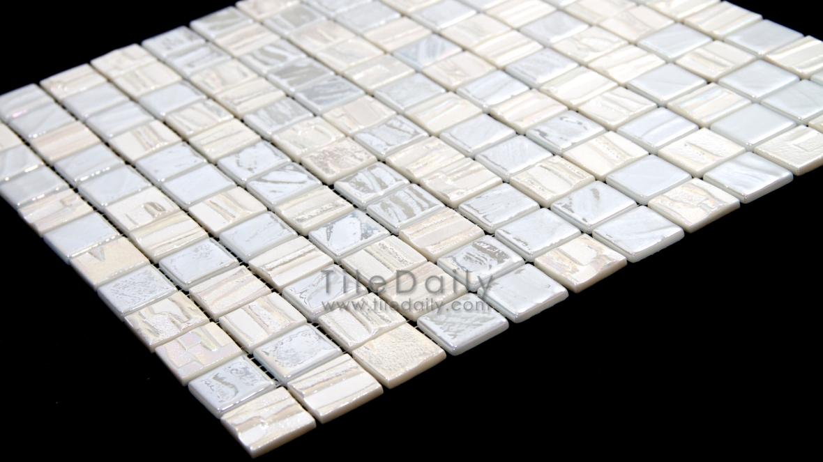 Iridescent Pearl Texture Glass Mosaic