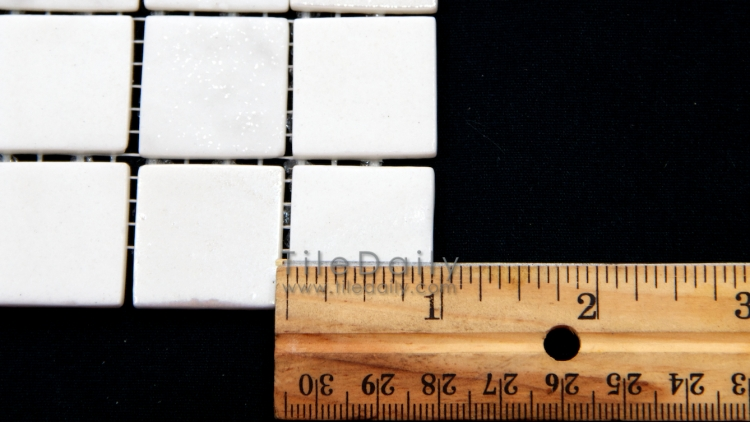 GM0104WE - Lustre Glass Mosaic, White
