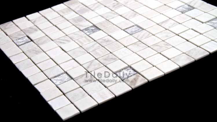 GM0104WE - Lustre Glass Mosaic, White