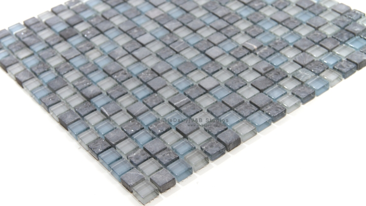 Marble and Glass Small Square Mosaic – SALE