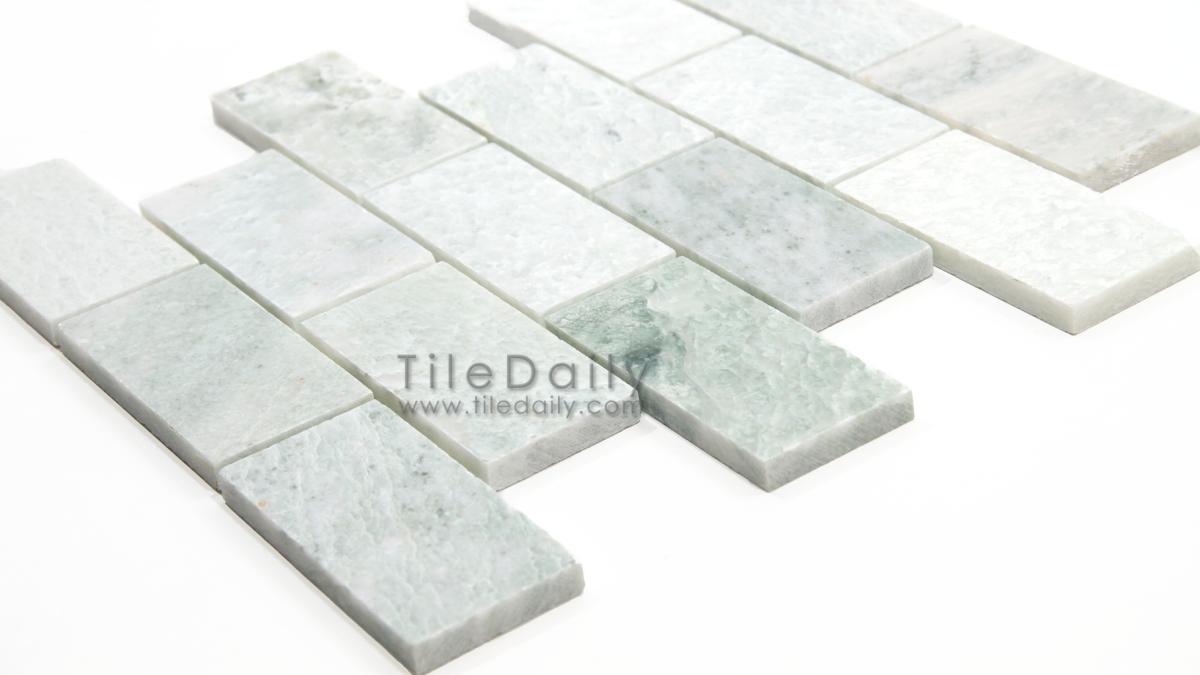 Ming green marble brick mosaic tiledaily dailygadgetfo Choice Image