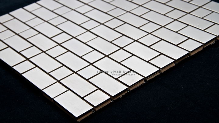 Mixed Brick Stainless Steel Mosaic