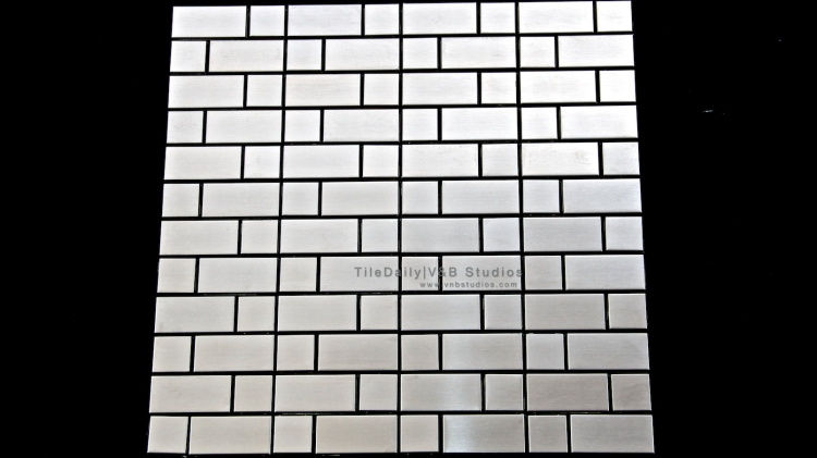 SS0006 - Mixed Brick Stainless Steel Mosaic