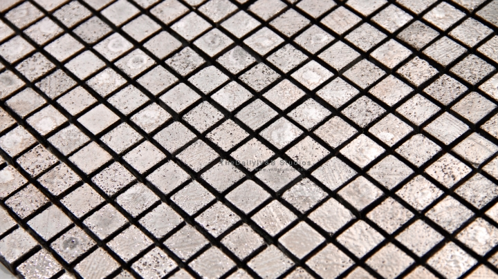 Textured Silver Square Mosaic
