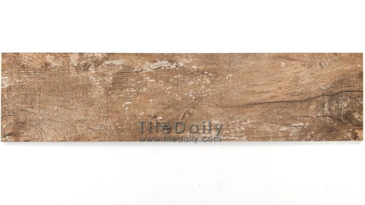 PW0017BN  Distressed Wood Porcelain Tile, Brown