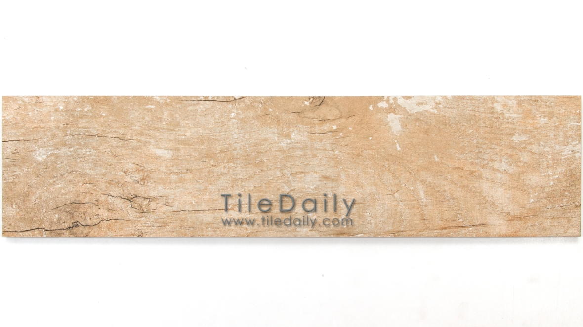 PW0017LBN  Distressed Wood Porcelain Tile, Light Brown