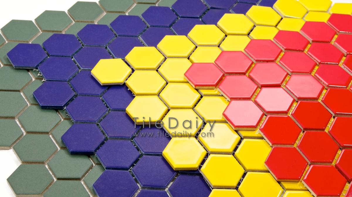 Hexagon Porcelain Mosaic 4 Colors Tiledaily