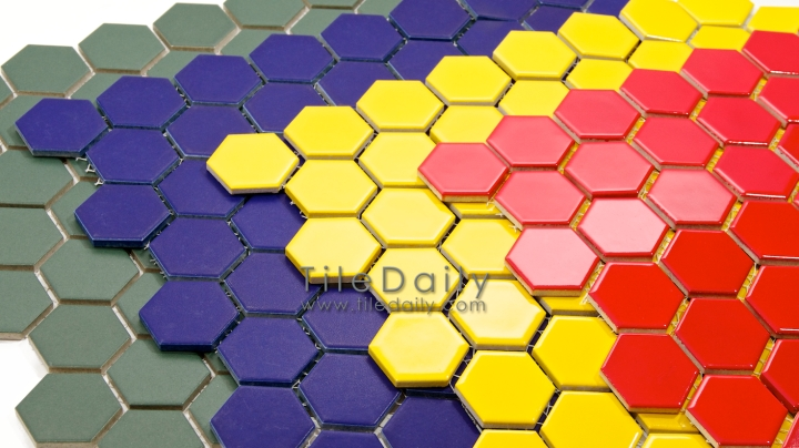 Hexagon Porcelain Mosaic, 4 Colors