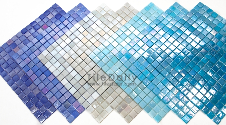 Iridescent Opaque Glass Mosaic, 7 Colors