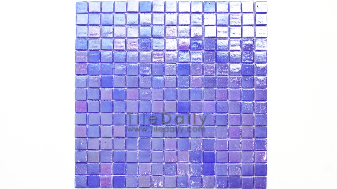 GM0040PE - Iridescent Opaque Glass Mosaic, Lavender Blue