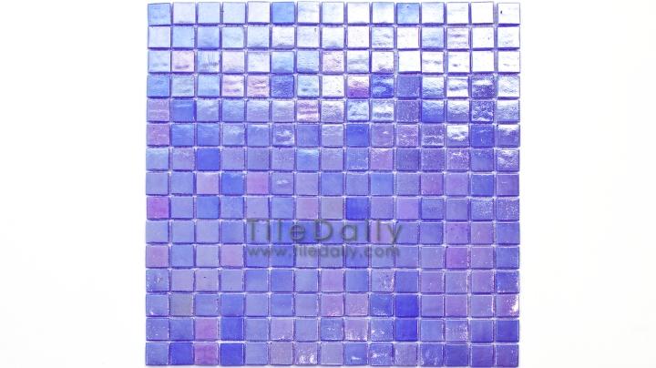 GM0040PE - Iridescent Opaque Glass Mosaic, Lavender Blue