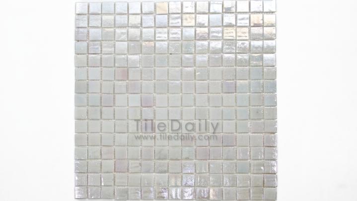 GM0040TM - Iridescent Opaque Glass Mosaic, Titanium