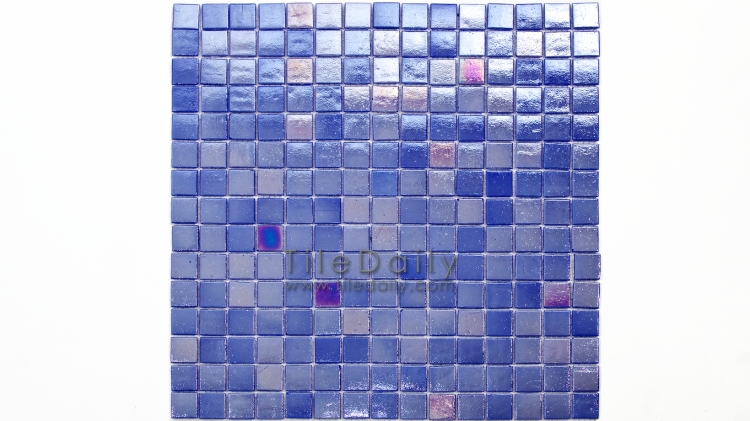 GM0040DBE - Iridescent Opaque Glass Mosaic, Cobalt Blue