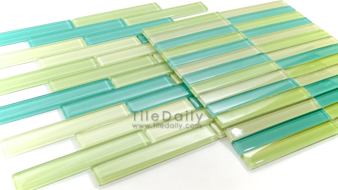 Linear Bars Glass Mosaics
