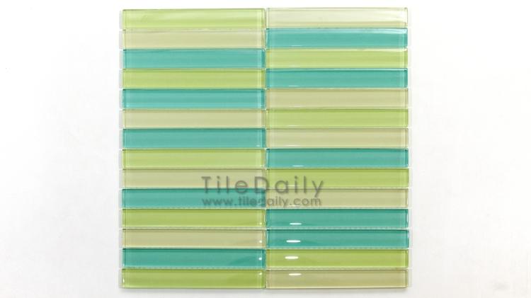 GM0015 Linear Bars Glass Mosaic