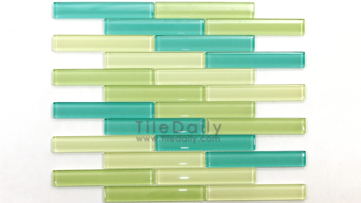 GM0011 - Linear Brick Glass Mosaic