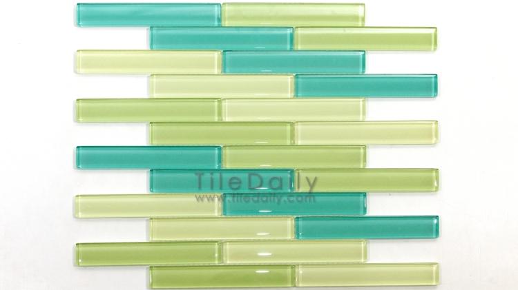 GM0011 - Linear Brick Glass Mosaic