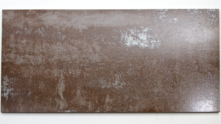 MP0037BN - Rustic Glaze Metallic Porcelain Tile, Brown